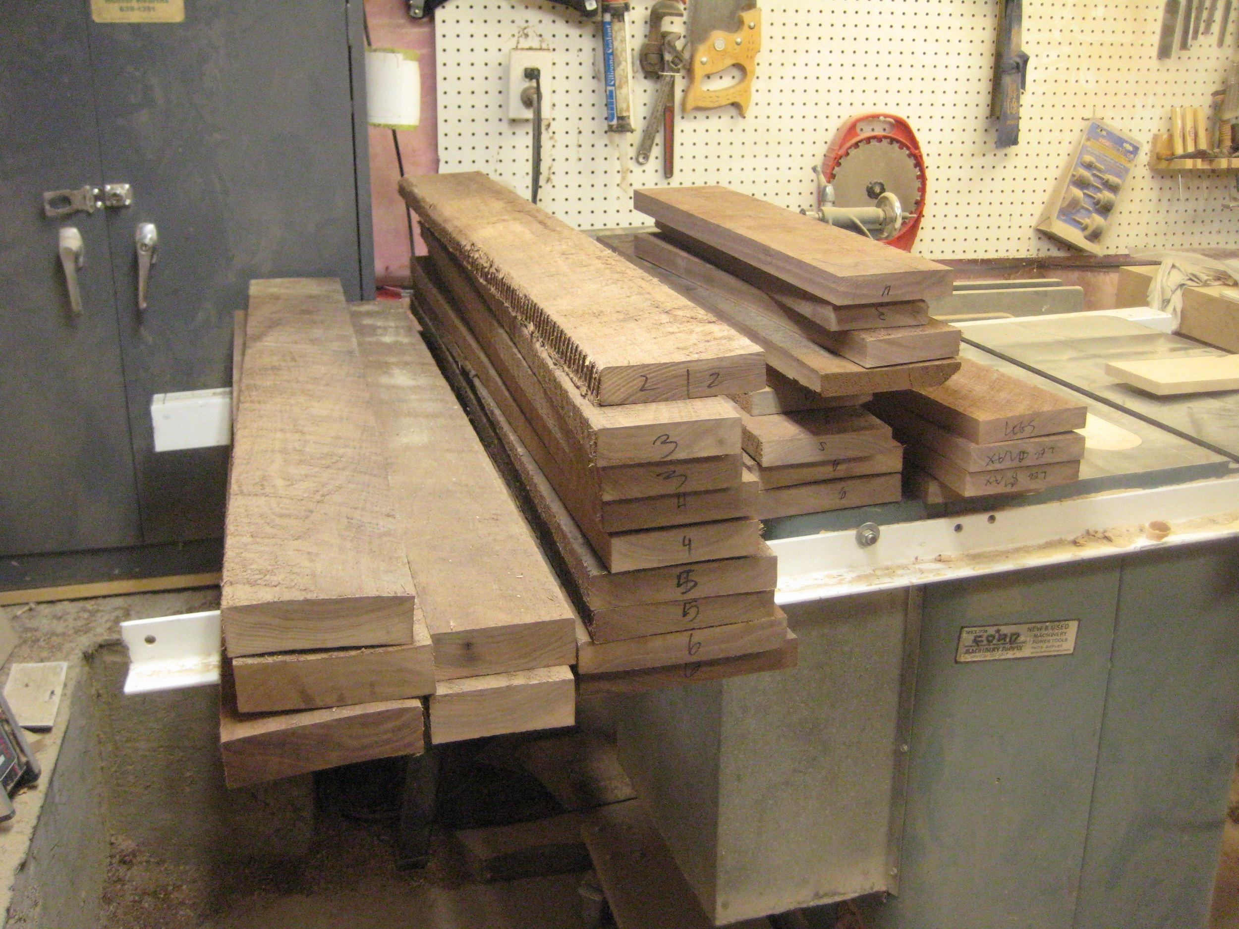Rough sawn planks
