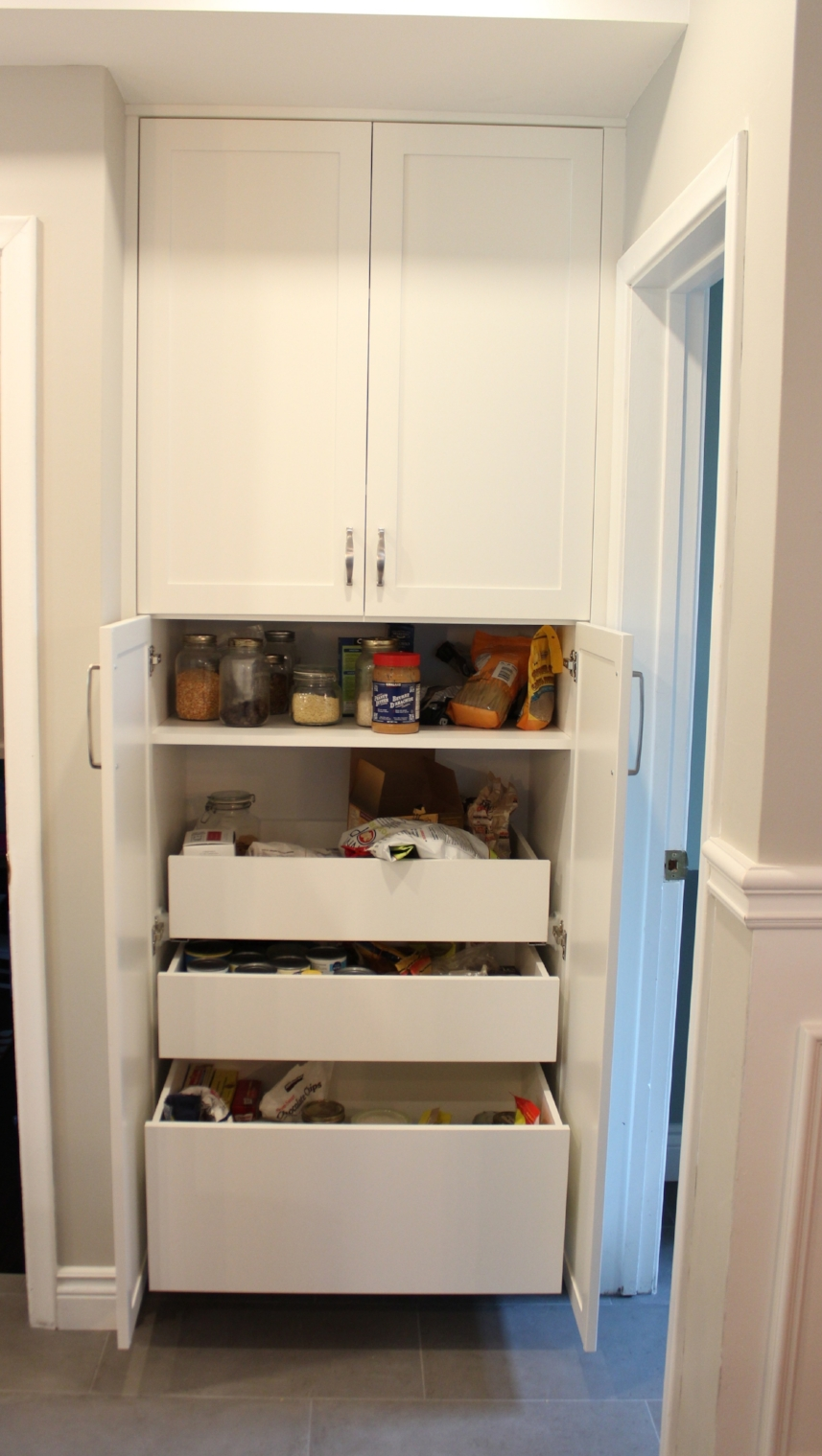 "This is a GIANT pantry: 24"" deep, 30"" wide and 96"" tall."