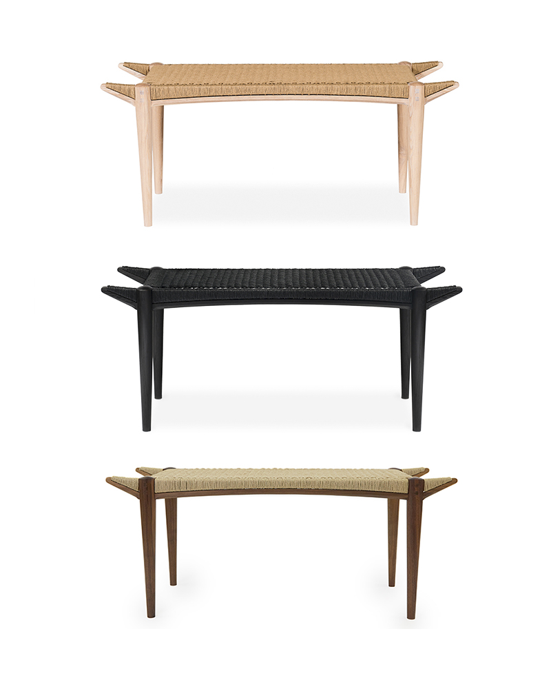 The Shoreman's Bench - Wood Frame with Danish Cord Top