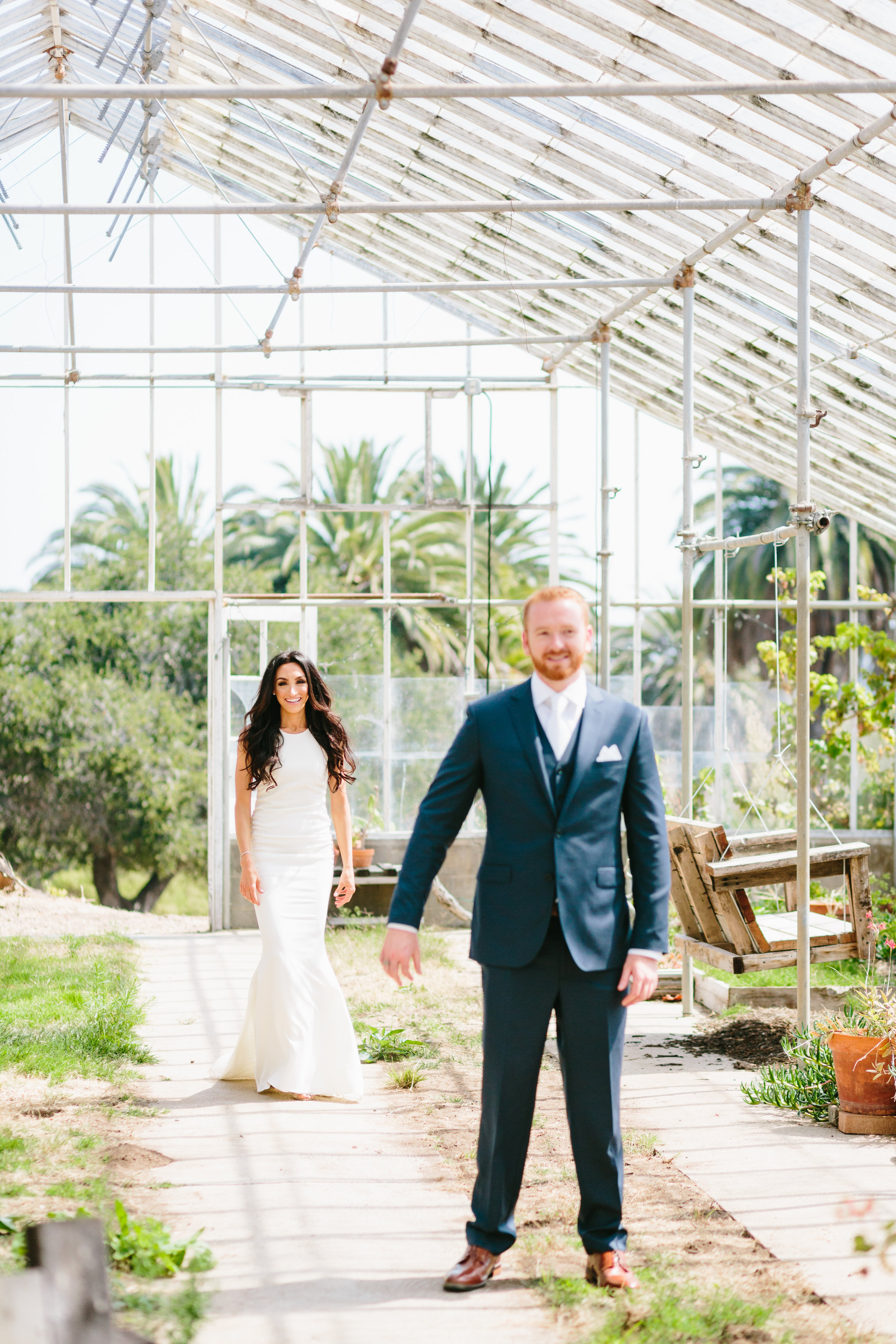 first look Santa Barbara Destination Wedding Planner Designer Orchard Farm