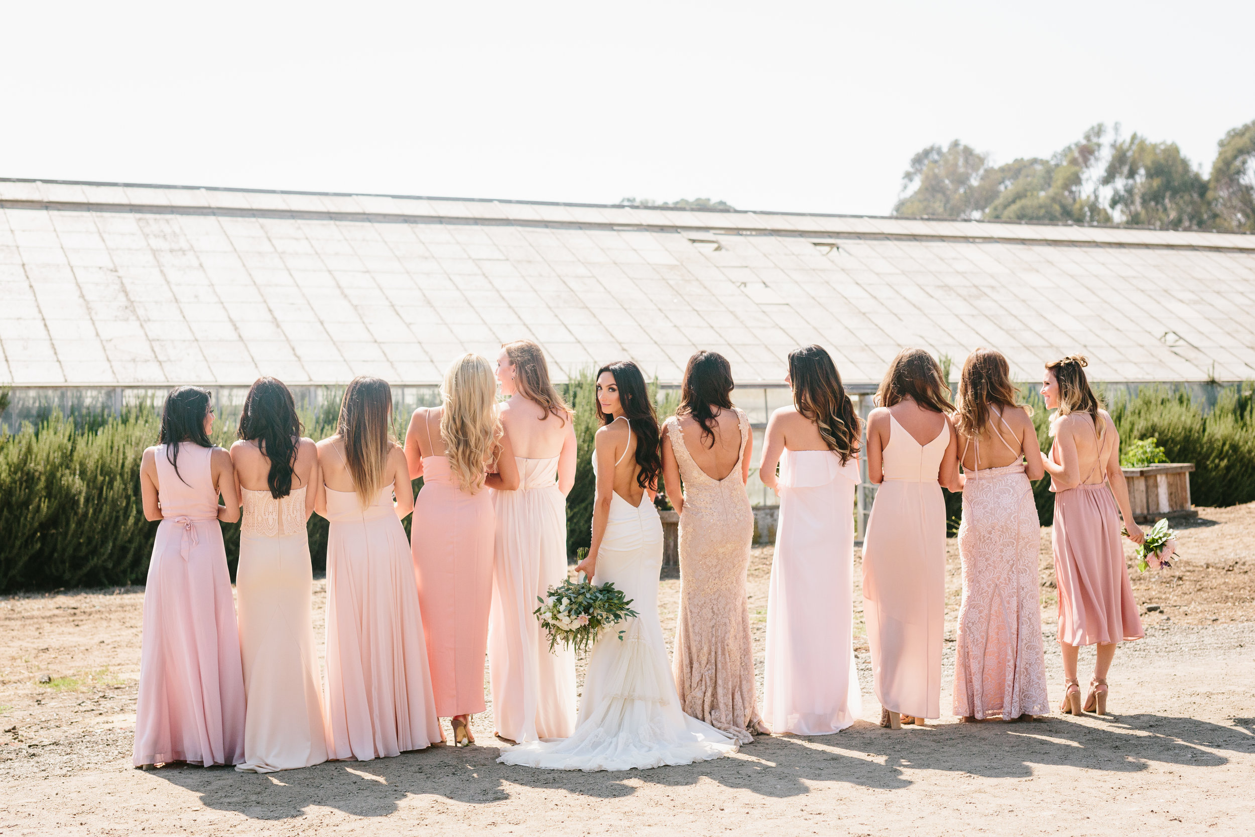 bridesmaids wedding Santa Barbara Destination Wedding Planner Designer Orchard Farm