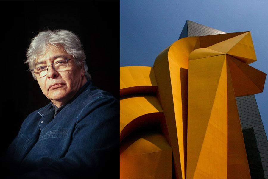 Image: Master sculptor Enrique Carbajal - Sebastián. Photo by Mario Rodríguez Cruz. Image right: Sebastián, El Caballito. Photo by Jubilo Haku.