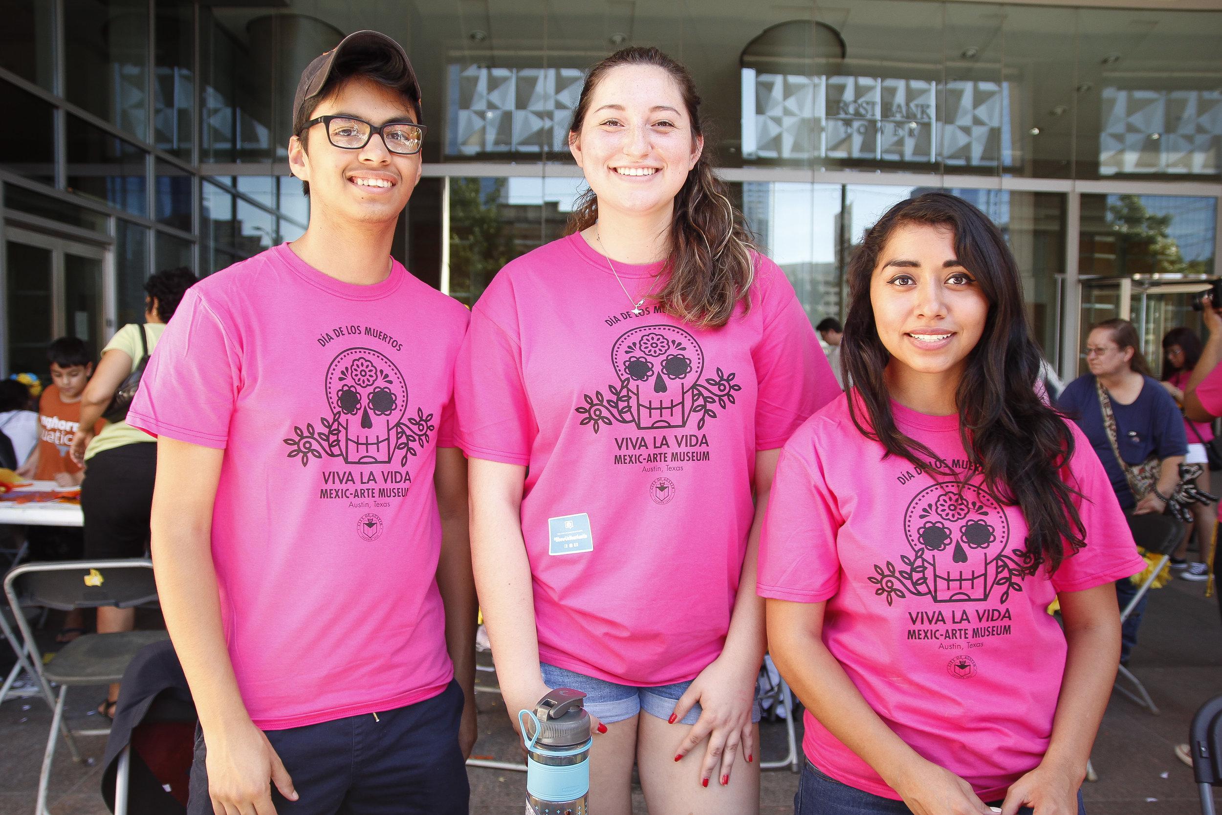 Volunteers at Viva la Vida 2016.