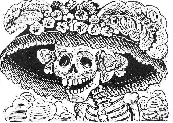 Calavera Catrina,  José Guadalupe Posada. Zinc etching, 1910.