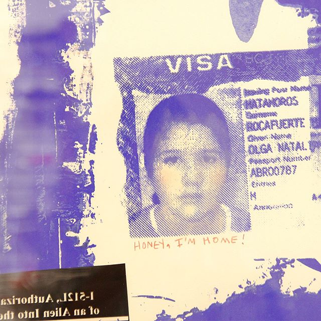 """I want to let people know that immigrants are here and we come from all sorts of different backgrounds. I feel very privileged to have legal documentation, I know that's not the case for everybody, but it's still a very difficult process and a lot of sacrifice goes into that experience."" ... @dadawestern employs humor and satire to both confront and archive the reality of being an immigrant. Her art installation is on view as part of #YLA23 ... Images: Natalia Rocafuerte, ""Home Is Where My Papers Are,"" 2018 #mexicarte #mexicartemuseum #artinstallation #immigrantexperience #atxmuseums #atxart #artinaustin #yla #borderart #austin #latinxartist #latinx"