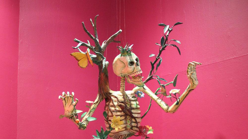 Felipe Linares,   Rebirth  , Papier-Mâché, 1980-1985, Gift of Paul and Nancy Hutzler Mexic-Arte Museum Permanent Collection, 2017.39.1