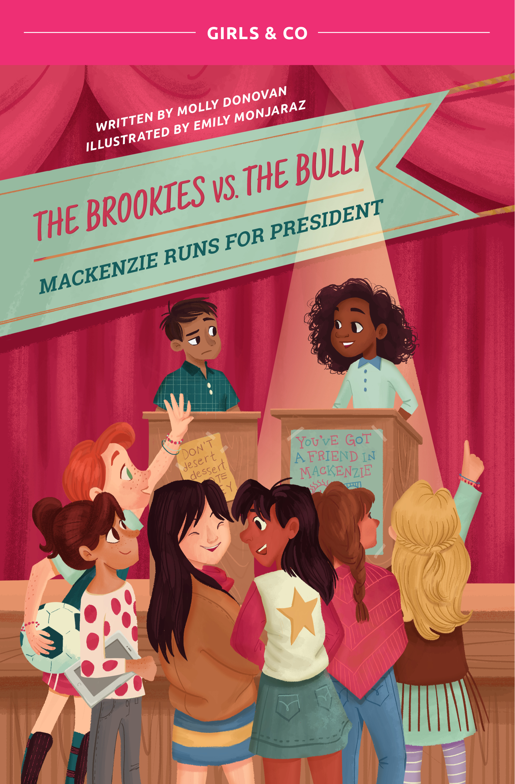 Book 2: Mackenzie's Story - Mackenzie Hill is running for President of her fifth grade class. Not only is she the most qualified and passionate candidate, she's running on a platform that she believes can truly bring positive change to Willowbrook Elementary. While she has the support of the Brookies, she will need to face off against Joey, the class bully, who is lying to get the vote of his classmates.