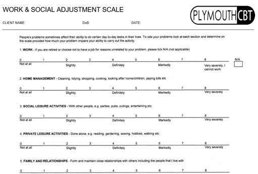 Work & Social Adjustment Scale