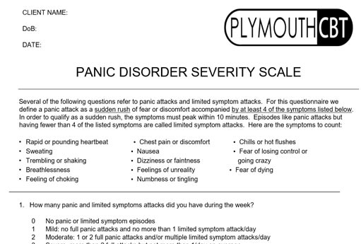 Panic Disorder Severity Scale