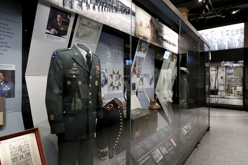 A SWEEP OF MILITARY HISTORY. Double Victory broadly organizes African American military experiences into three main clusters: Struggle for Freedom, A Segregated Military and Stirrings of Change to a Colorblind Military.  Photo credit: Chip Somodevilla via Getty Images