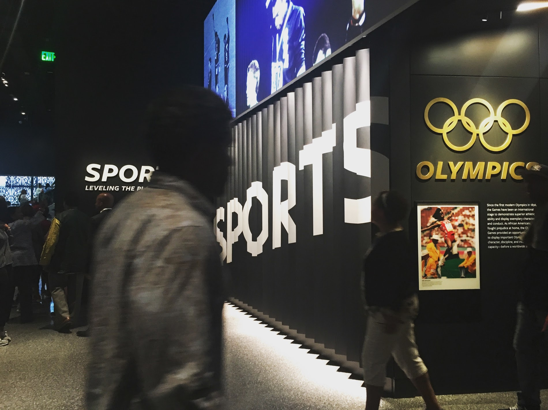 The  Sports: Leveling the Playing Field gallery explores the contributions of athletes, both on and off the field. Photo credit: Aki Carpenter