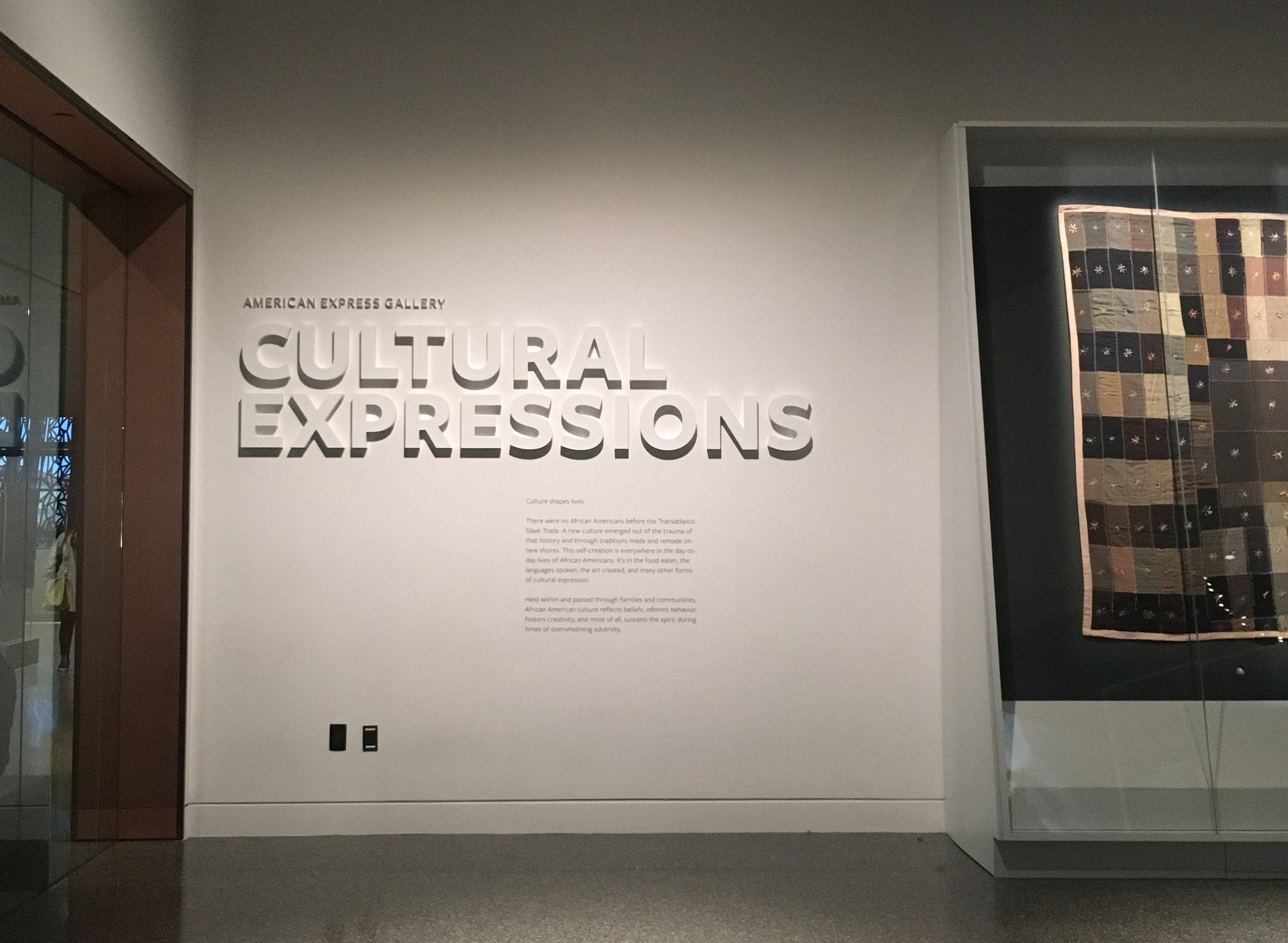 CULTURAL EXPRESSIONS   is a circular, experiential, introductory space to African American and African diaspora culture.  Photo credit: Aki Carpenter