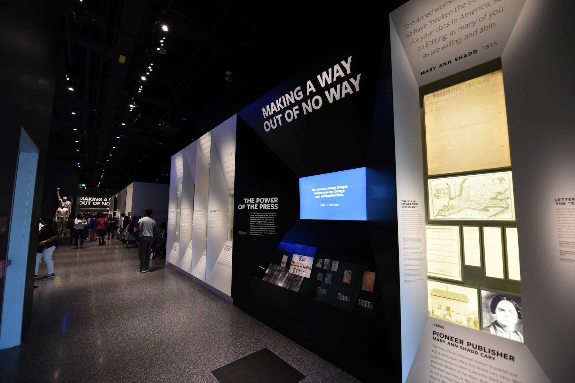 """MAKING A WAY OUT OF NO WAY. This gallery explores themes of agency, creativity, and resilience through personal stories of African Americans who challenged racial oppression and discrimination and created ways out of """"no way.""""  Photo credit: Luka Kito"""