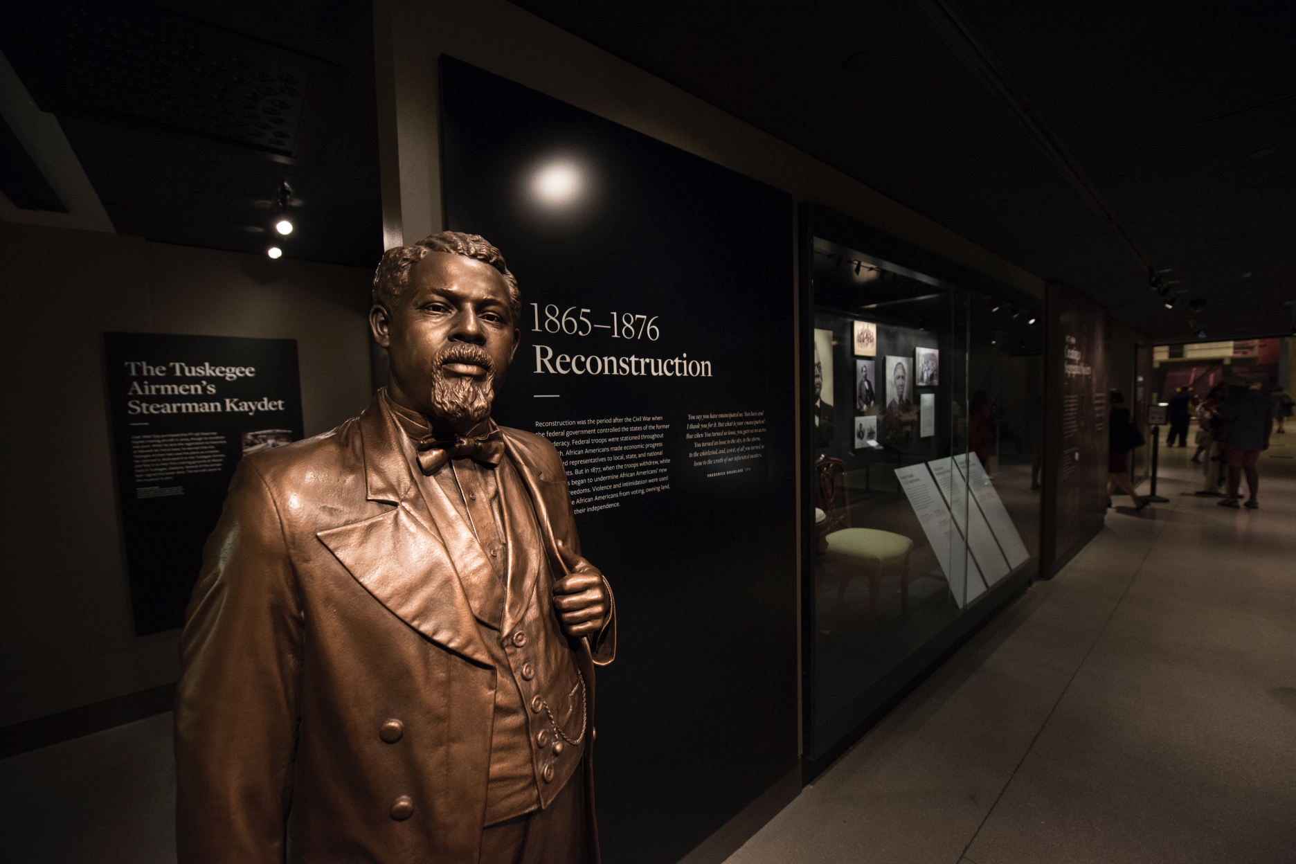RECONSTRUCTION INTRODUCTION AND STATUE OF R OBERT SMALLS. Robert Smalls was an enslaved African American who, during and after the American Civil War, gained freedom and became a ship's pilot, sea captain, and politician. Photo credit: Luka Kito