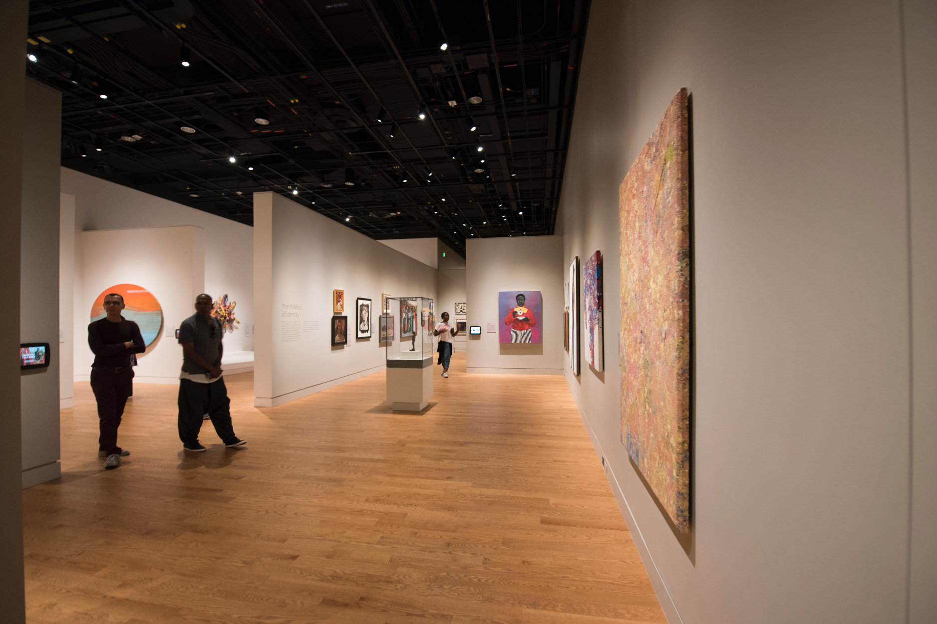 Galleries within the exhibition group artists by theme or approach, illustrating shared intellectual and aesthetic sensibilities. Photo credit: Luka Kito