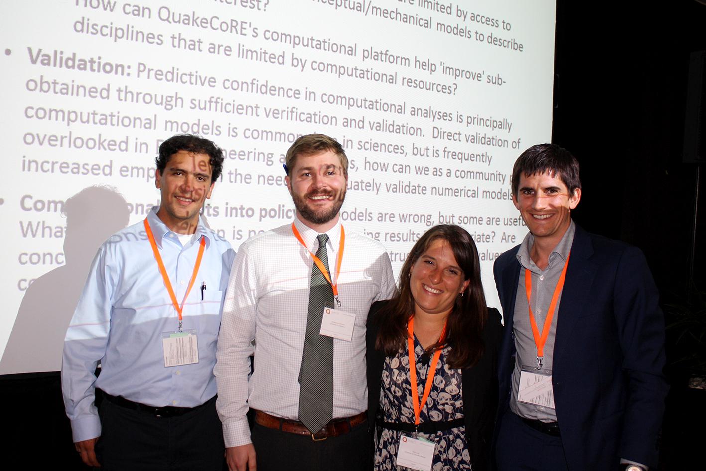Moderator: Ricardo Taborda, Speaker: Chris McGann, Abbie Liel, Moderator and QuakeCore Deputy Director: Brendon Bradley