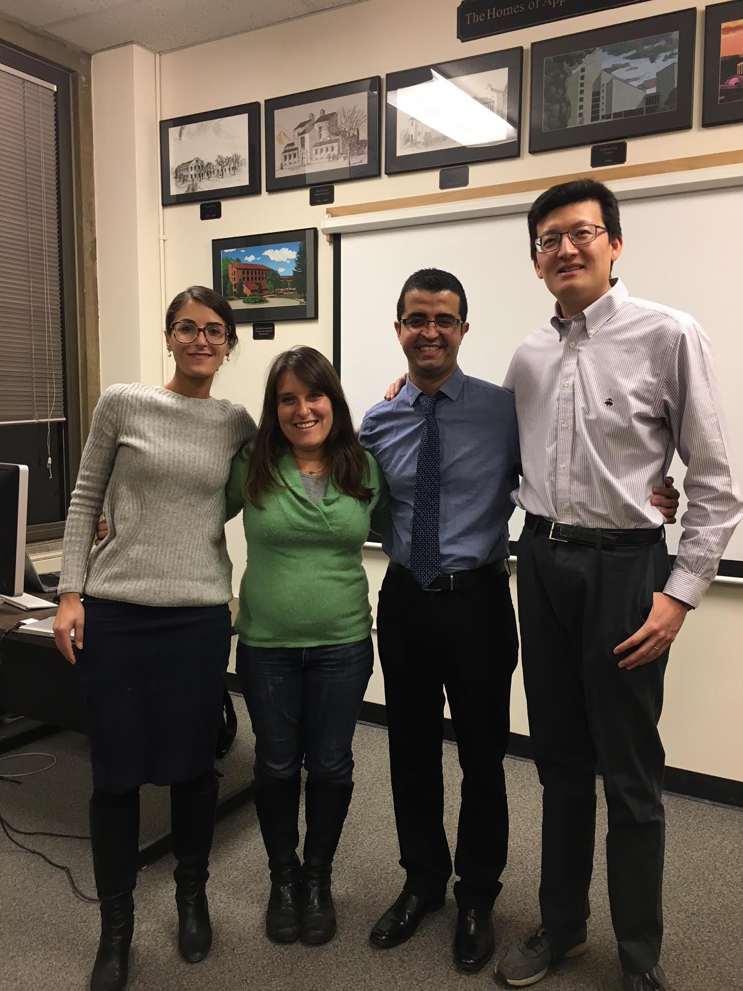 Shideh Dashti, Abbie Liel,  Dr.  Juan Olarte, and Yida Zhang