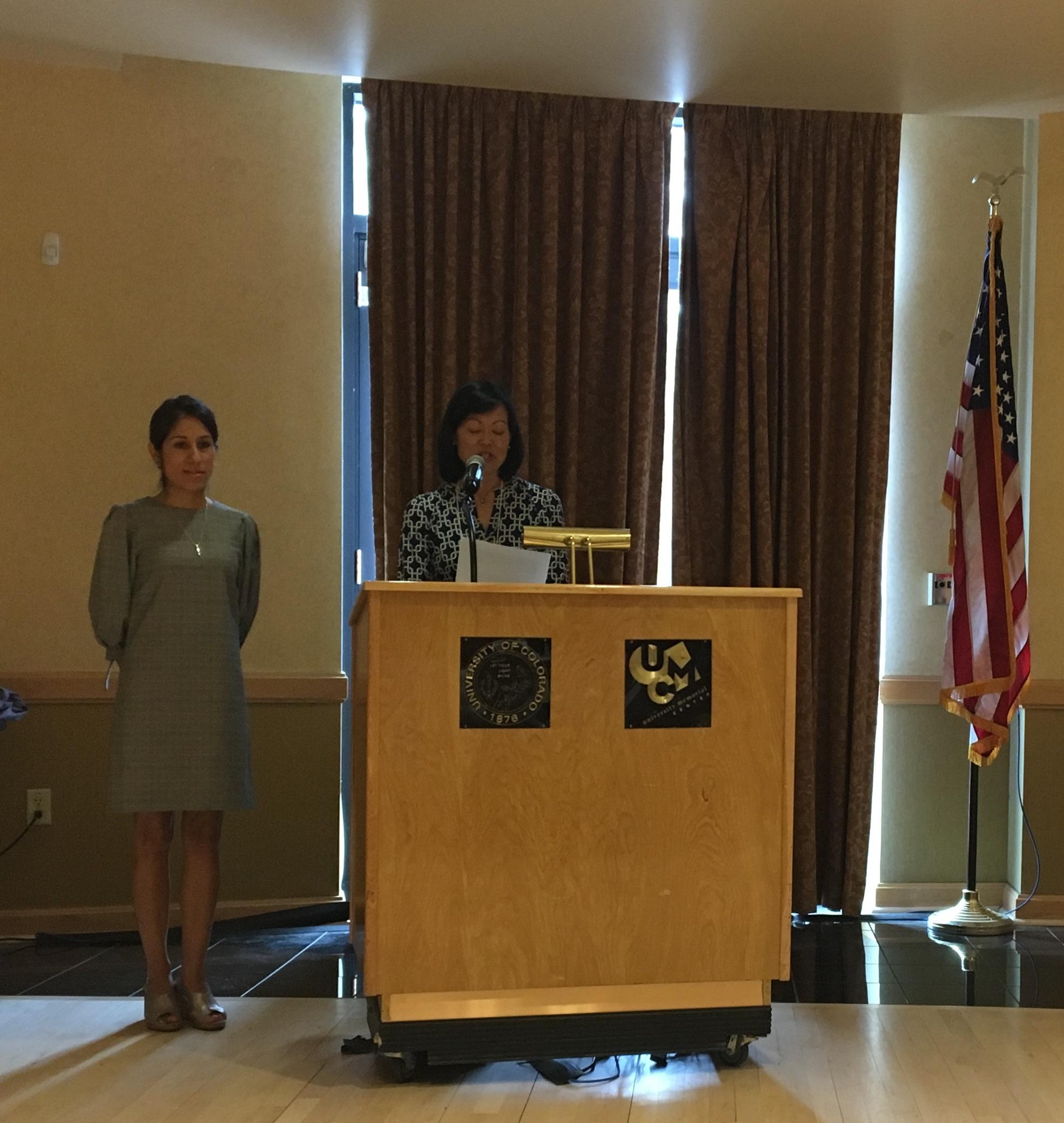 Jenny Ramirez, at the award ceremony.