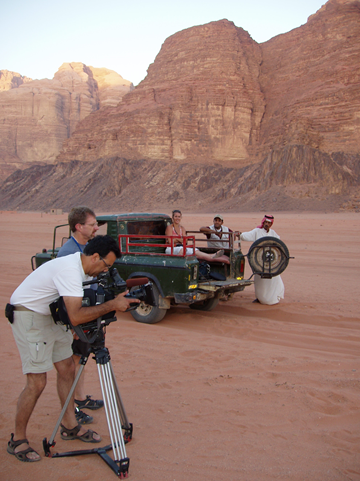 Shooting in Jordan's Wadi Rum - made famous by T.E. Lawrence