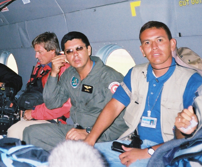 Some of the Peruvian President's security detail
