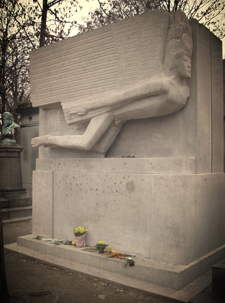 Tomb of Oscar Wilde at Pere Lachaise Cemetery