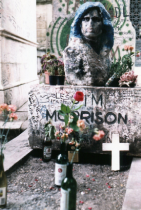 We finally found Jim Morrison's grave
