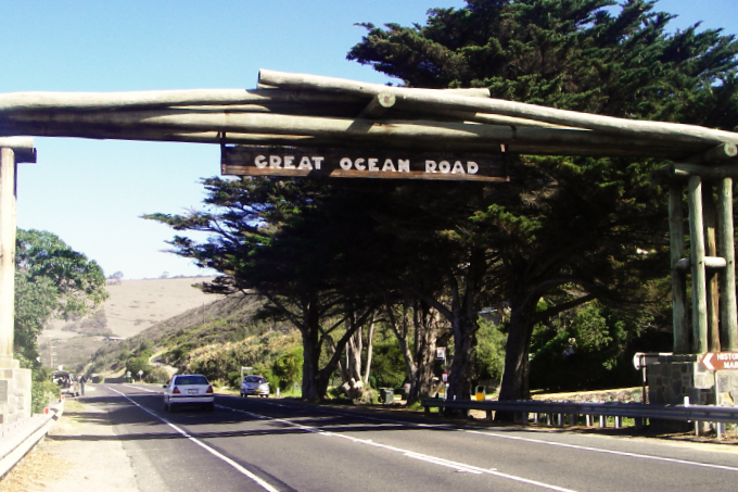 They drove on the wrong side of the Great Ocean Road