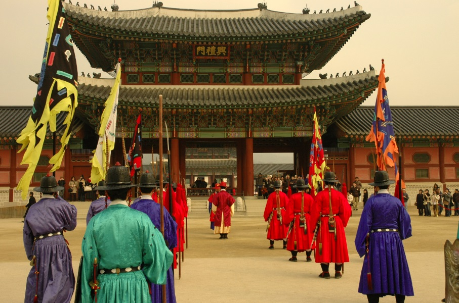 Gyeongbokgung Palace - built three times in Seoul