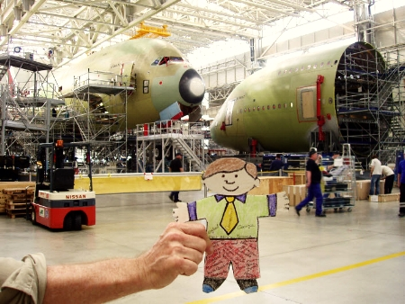 Flat Stanley and Airbus A380