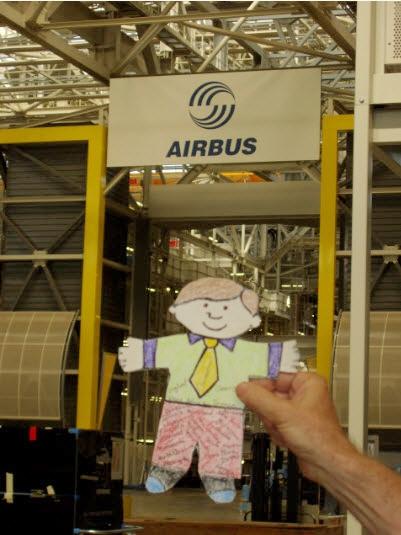 Flat Stanley at Airbus