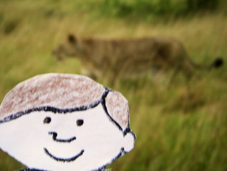Flat Stanley at the kill