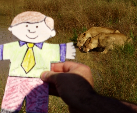 Flat Stanley after the hunt