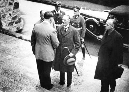 It was here at Berchtesgaden, at the Berghof, that Hitler met with Chamberlain
