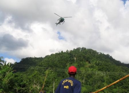 Chopper near wires