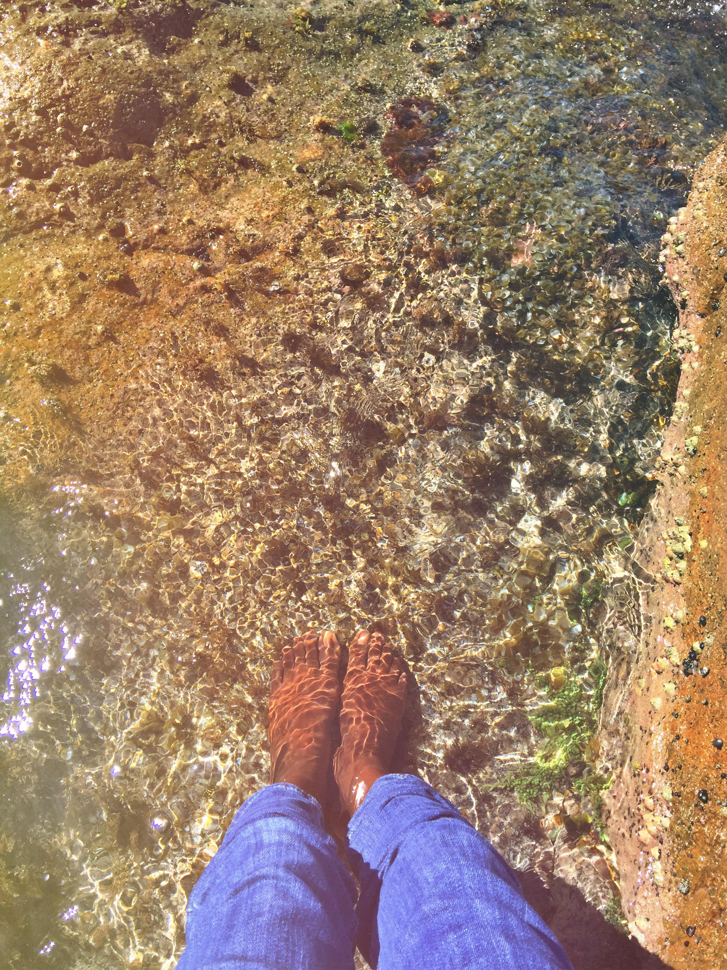 I love wetting my feet <3