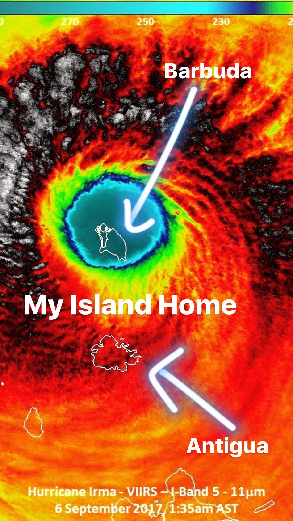 Barbuda in The Eye of Irma