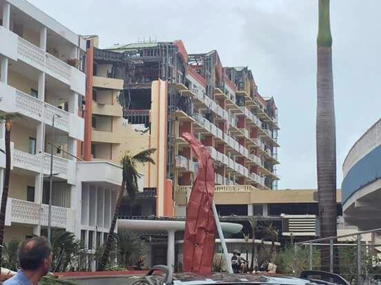Damage to Sonesta Maho Beach (Hotel I Frequent in SXM)
