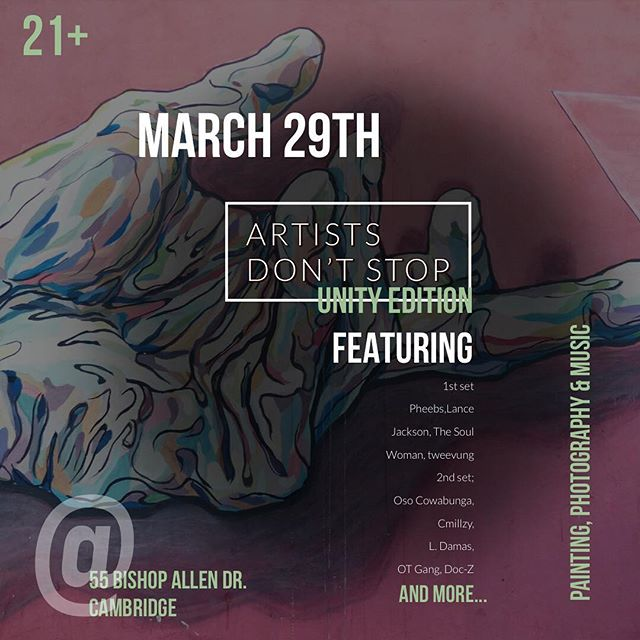 POP UP ALERT 🚨  Artists Don't Stop//Unity Edition ~ Synergistic Participation Required ~ We've got a mash up planned for your evening as we encourage you to immerse in the interactive vibes provided . $20 Tickets AT THE DOOR ~RSVP link in bio~ $5 DISCOUNT - Donations // Local Homeless Shelter ~Please bring a donation of clothing, non-perishable foods, or toiletries to give back to the community~ . Event Schedule 6:30 - Doors Open 7:00 - Chill Vibes - Paint Pop-Up - Artist Vendor Mixer - Live Photoshooting  9:00 - High Energy provided by Vocal Artists 1:00am - Doors Close