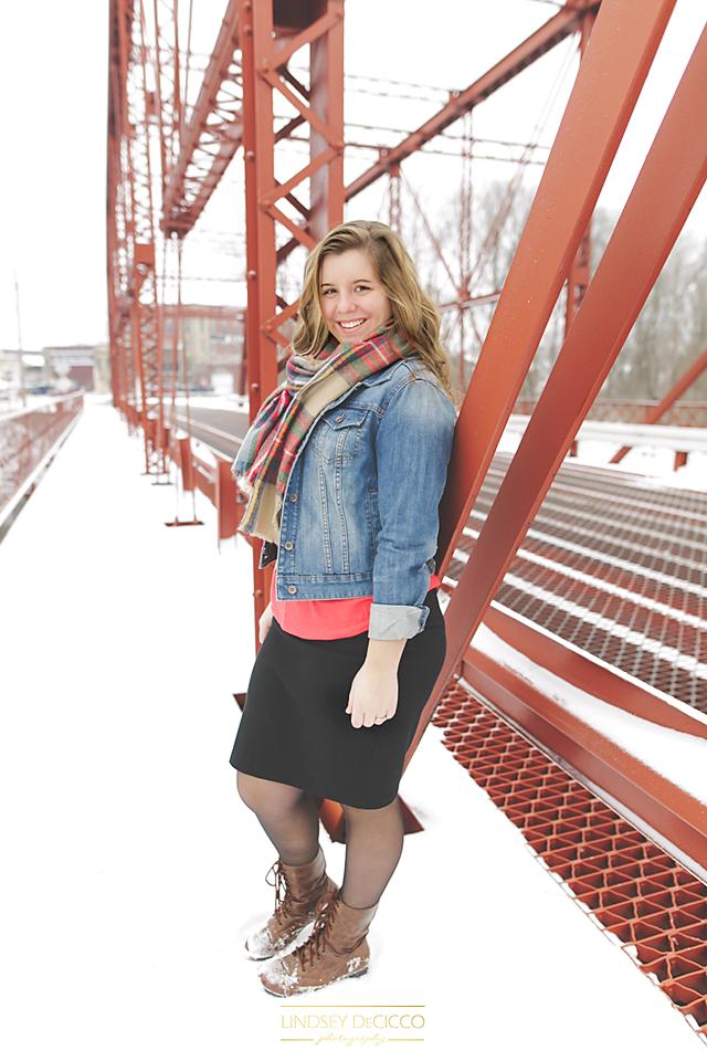 Senior Girl Pose Bridge