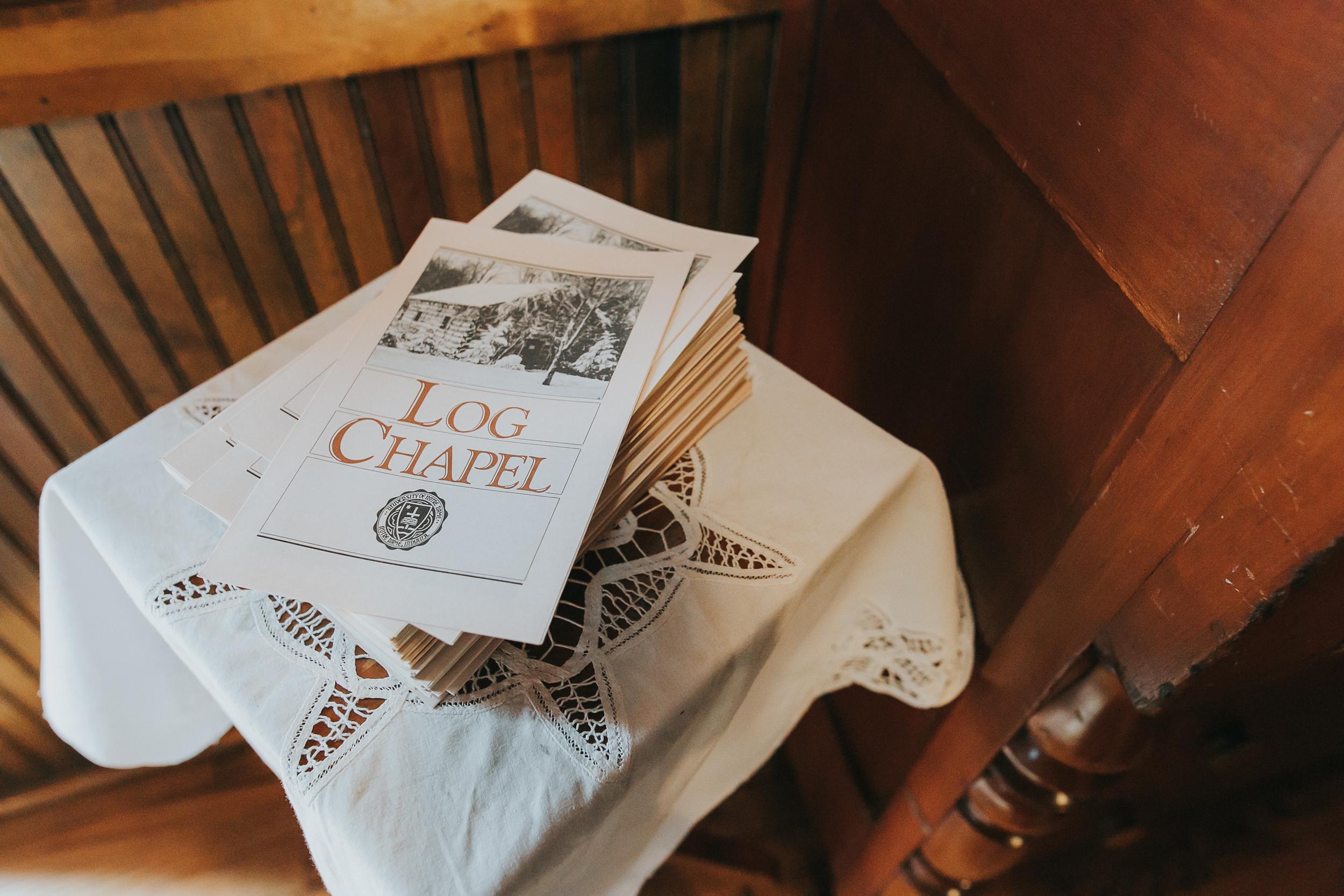 Log Chapel Baptism, Notre Dame