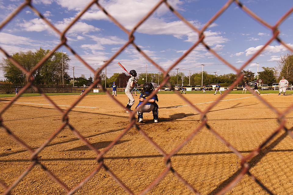 little league action shot