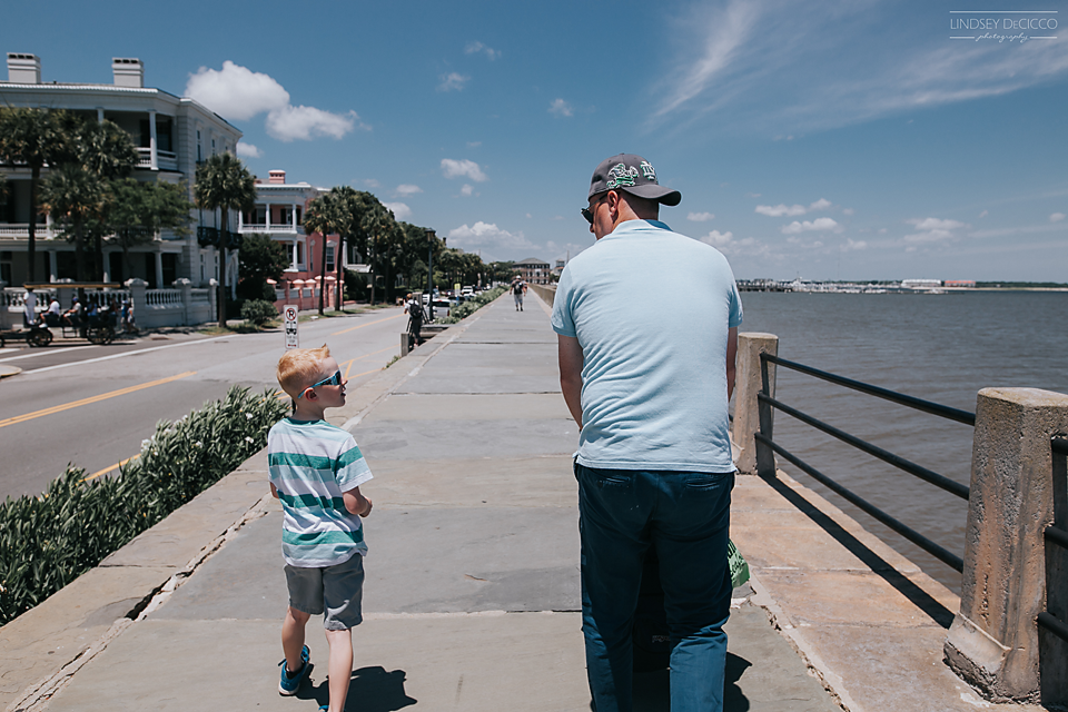 We walked the battery with him as a 6 month old. He thought it was cool we were there 7 years later.