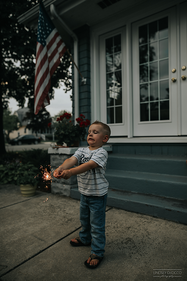 sparklers and toddlers