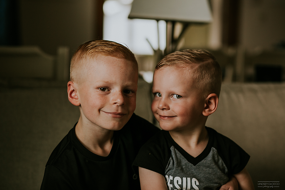 Hair cuts. These boys are rocking their hard parts.