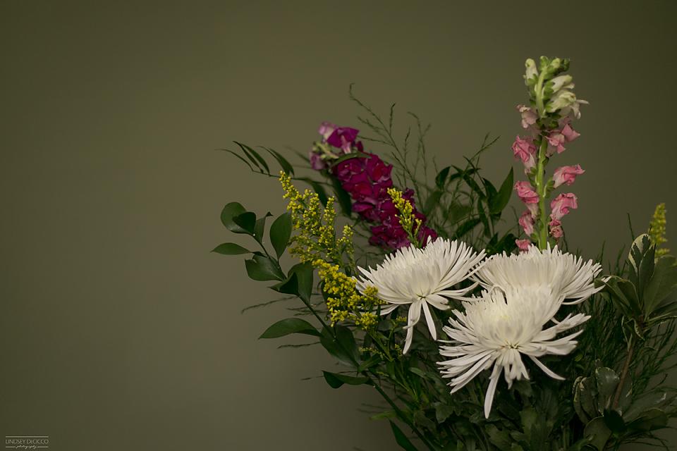 moody green bouquet