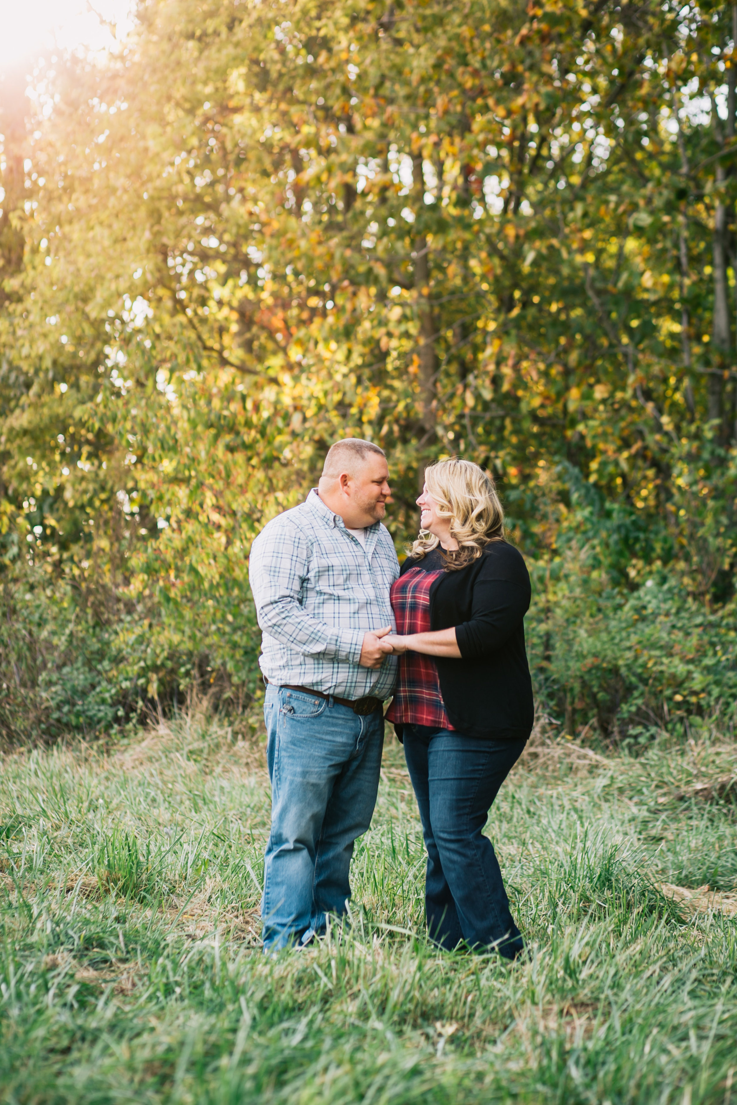 Michiana Engagement Session on family farm