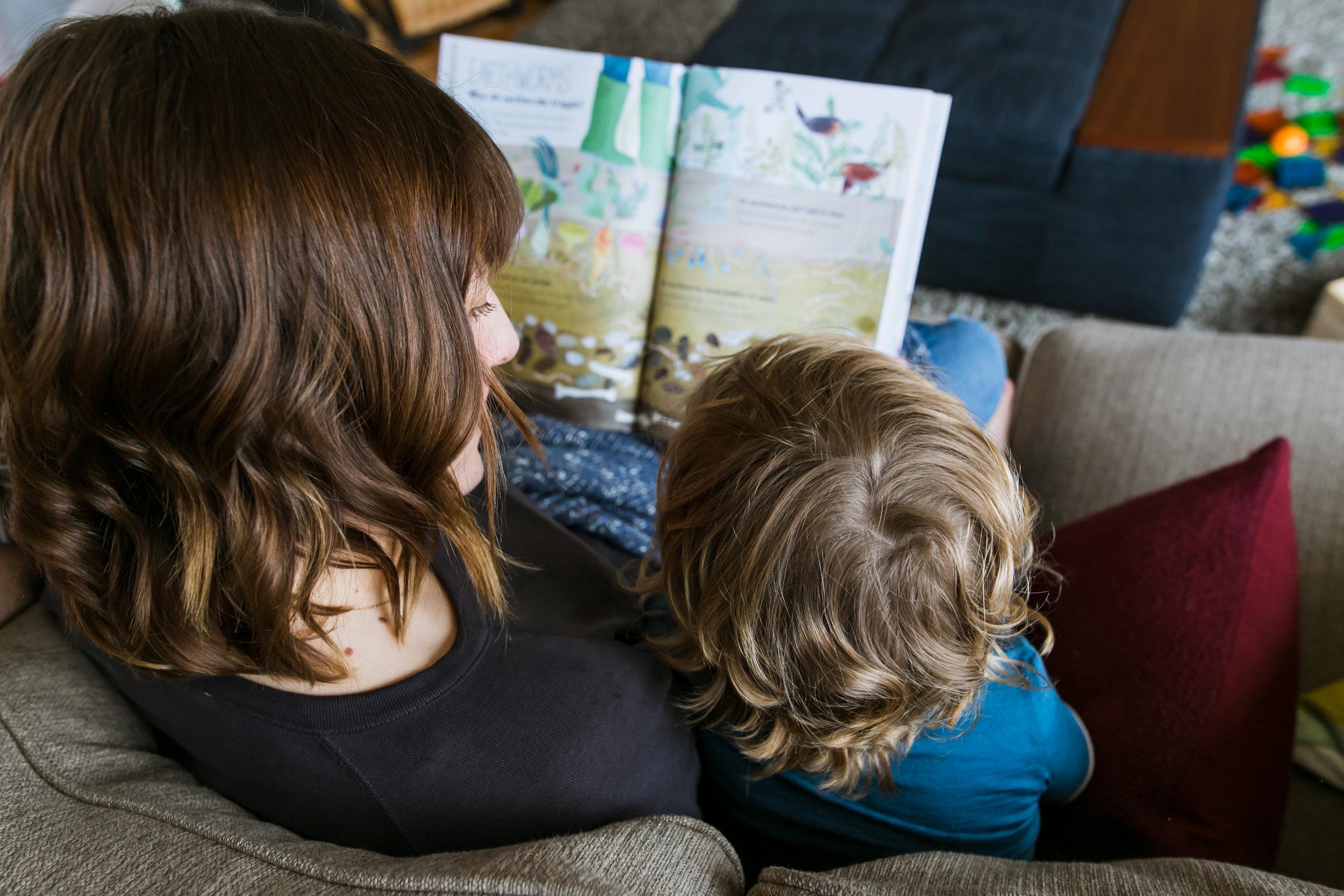 mom and son's hair, family film session mishawaka
