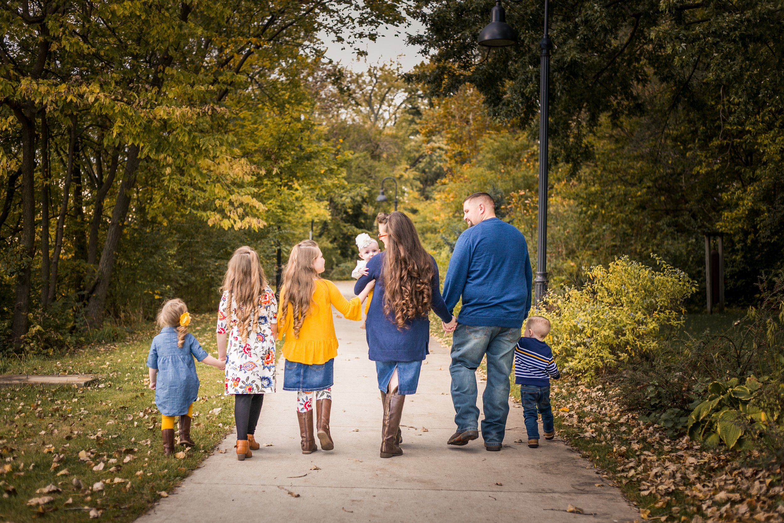 Professional family photos, family of 7, South Bend, IN