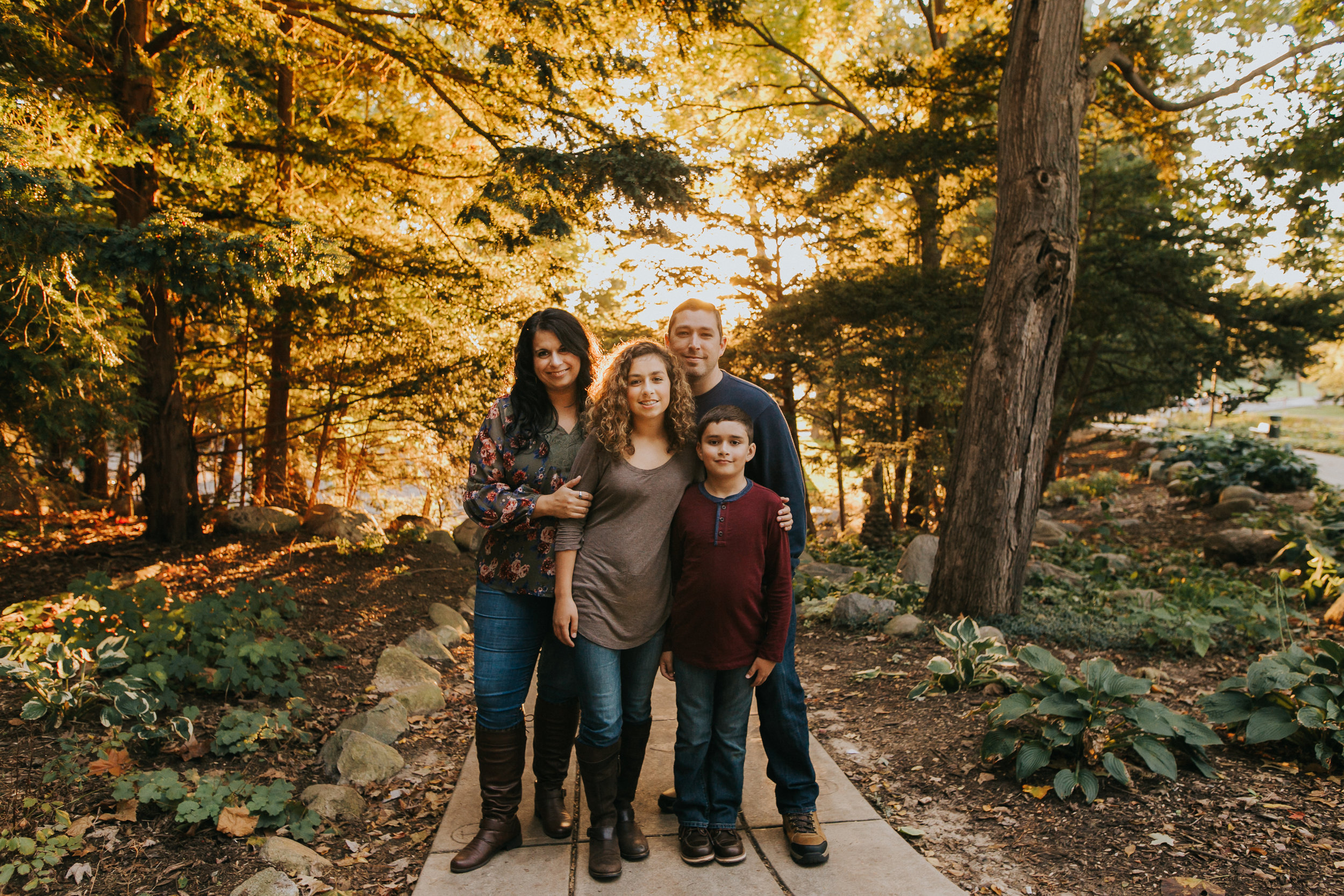Professional Family Photos, near the Grotto at the University of Notre Dame