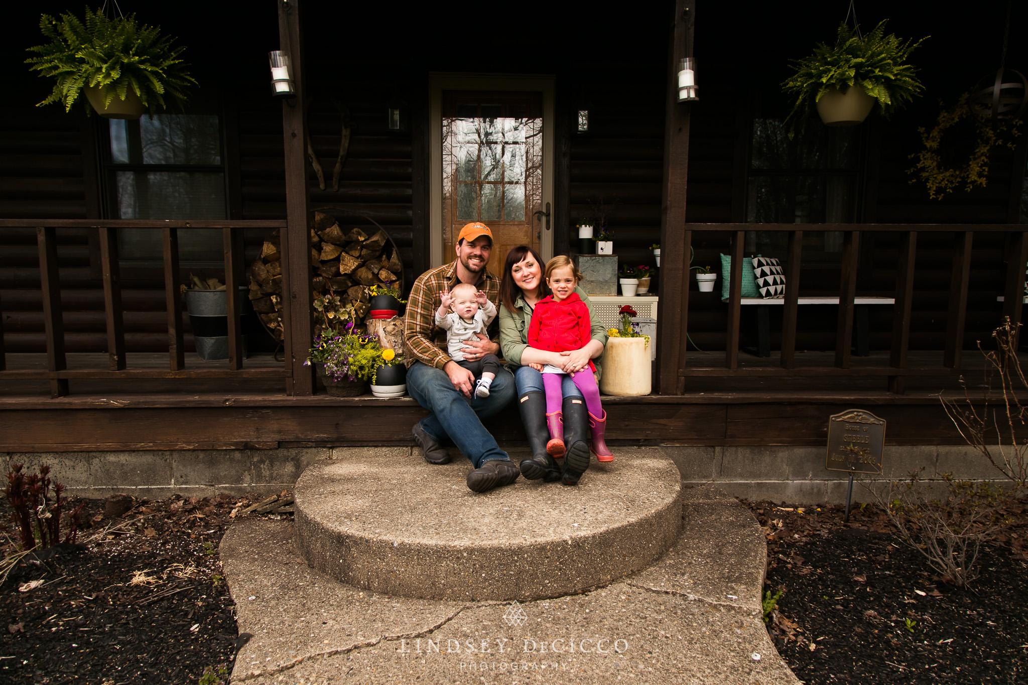 family steps portrait